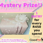 GoodPet advert picture of gift-wrapped mystery prize Lucky Draw